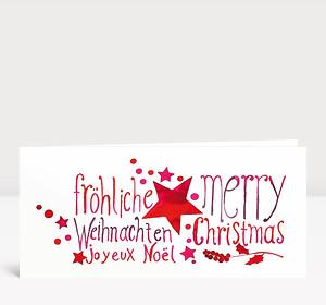 Weihnachtskarte Weihnachtsgrüße Tusche international