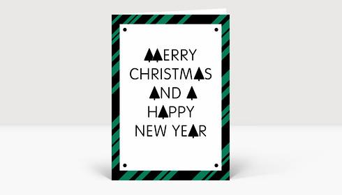 Stylische Weihnachtskarten.Weihnachtskarte Stylische Weihnachten Grün Schwarz