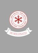 Weihnachtskarte Snowflake Icon Rot-Grau