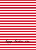 Weihnachtskarte Roten Streifen