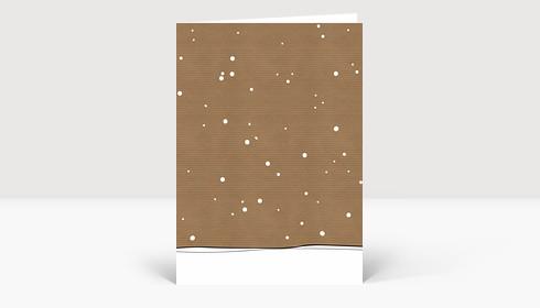 Weihnachtskarte Schnee auf Karton