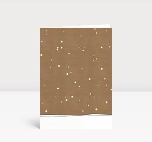 Weihnachtskarte Schneekarton