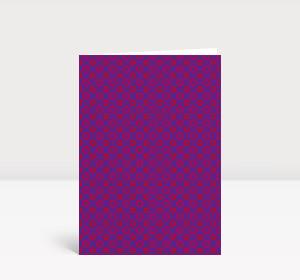 Weihnachtskarte Rotes Ornament auf Violett