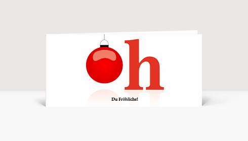 Weihnachtskarte Oh, Du Fröhliche! DIN Lang