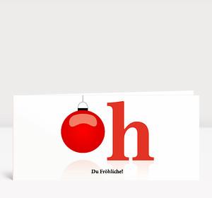 Weihnachtskarte Oh, Du Fröhliche!