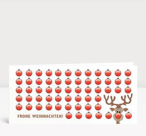 Weihnachtskarte Lustiger Rudolph