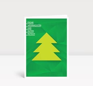 Weihnachtskarte Weihnachtsbaum geometrisch Grün