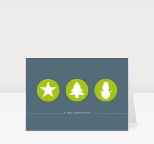 Weihnachtskarte Weihnachtstrio