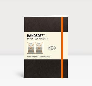Weihnachtskarte Handsoff(R) Weihnachtskalender orange