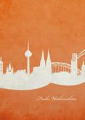 Weihnachtskarte Köln orange