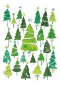 Weihnachtskarte Weihnachtswald Grün
