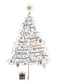 Weihnachtskarte Frohe Weihnachten aus München Braun