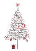 Weihnachtskarte Frohe Weihnachten aus München Rot