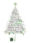 Weihnachtskarte Frohe Weihnachten aus München Grün
