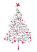 Weihnachtskarte Frohe Weihnachten aus Berlin Rot
