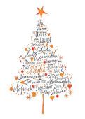 Weihnachtskarte Frohe Weihnachten aus Berlin Orange