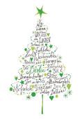 Weihnachtskarte Frohe Weihnachten aus Berlin Grün