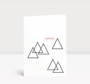Weihnachtskarte Tannebäume puristisch modern
