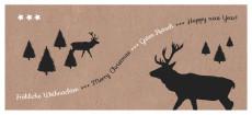 Weihnachtskarte Hirschwald Karton