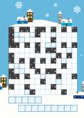 Weihnachtskarte Kreuzworträtsel Blau