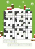 Weihnachtskarte Kreuzworträtsel Grün