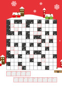 Weihnachtskarte Kreuzworträtsel Rot
