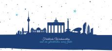 Weihnachtskarte Berliner Sternenhimmel Blau