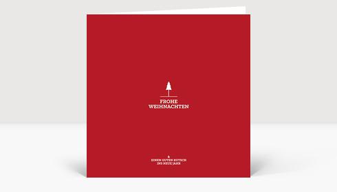 Weihnachtskarte Weihnachtsbäumchen rot