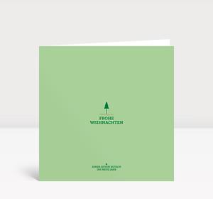 Weihnachtskarte Weihnachtsbäumchen mintgrün