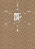 Weihnachtskarte Merry Happy