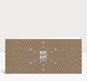Weihnachtskarte Merry Happy Lang