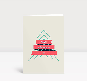 Weihnachtskarte Frohe Weihnachten Retro