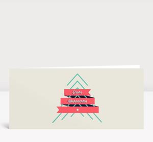 Weihnachtskarte Frohe Weihnachten Retro Lang