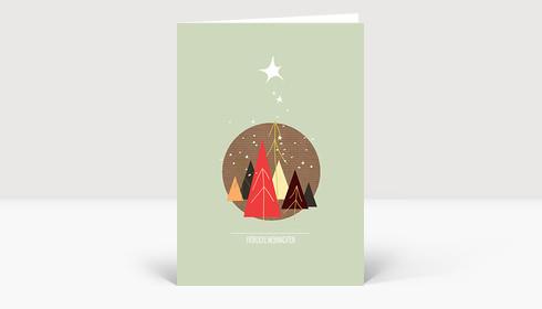Weihnachtskarte Tannenwäldchen
