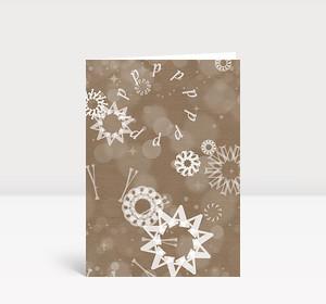 Weihnachtskarte Typoschneetreiben