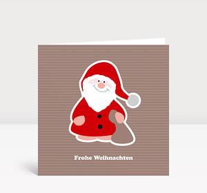 Weihnachtskarte Fröhlicher Nikolaus