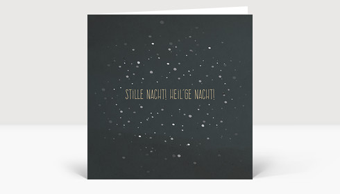 Weihnachtskarte Stille Nacht! Heil'ge Nacht! Quadrat groß