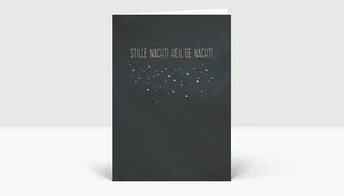 Weihnachtskarte Stille nacht! heil'ge nacht! DIN A6