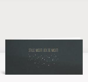 Weihnachtskarte Stille nacht! heil'ge nacht! DIN Lang
