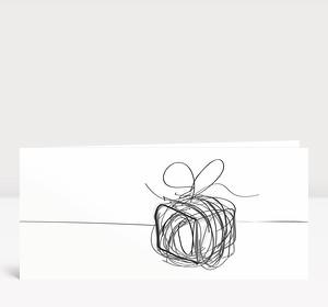 Weihnachtskarte Päckchen Scribble Schwarz