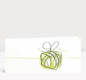 Weihnachtskarte Päckchen Scribble Grün