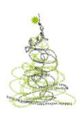 Weihnachtskarte Typobaum Grün