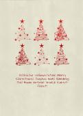 Weihnachtskarte 6 Baumwirbel rot