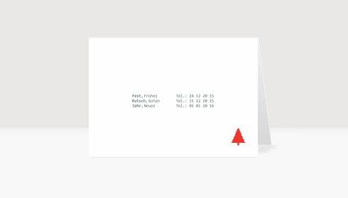 Weihnachtskarte Telefonbuch