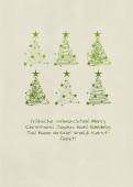 Weihnachtskarte 6 Baumwirbel grün