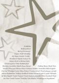 Weihnachtskarte Sterne international grau