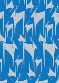 Weihnachtskarte Hirschherde Blaugrau