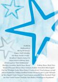Weihnachtskarte Sterne international blau