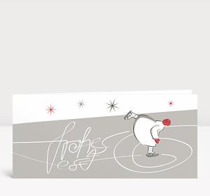 Weihnachtskarte Eiskunstläuferin