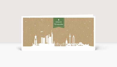 Weihnachtskarte Frankfurt Karton grün